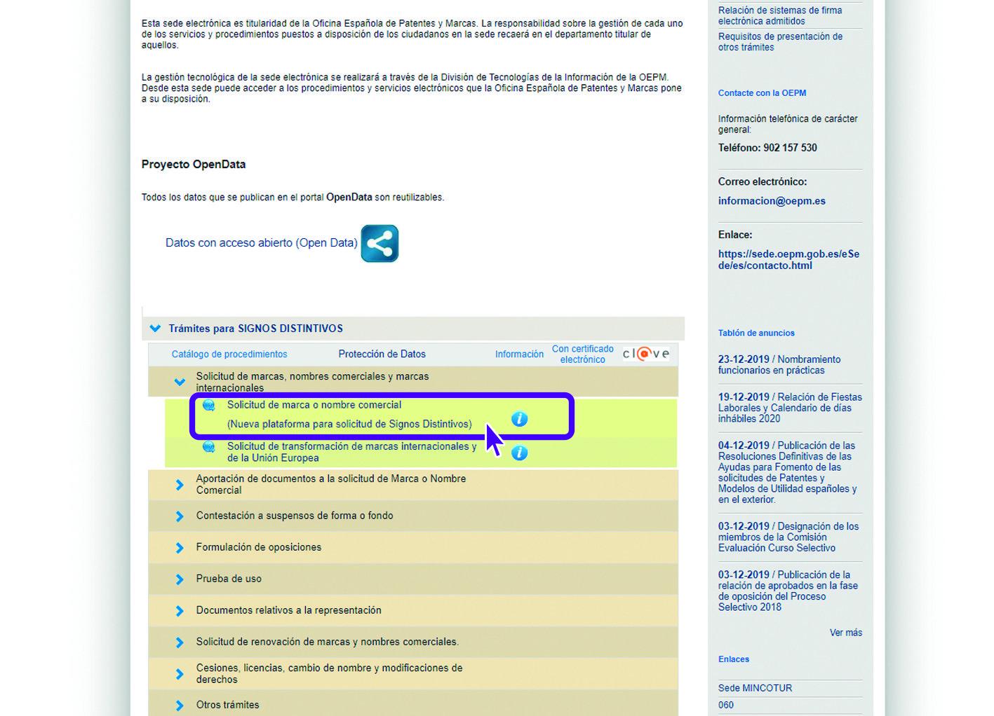 OEPM Registro de Marca Solicitud 2 Tutorial