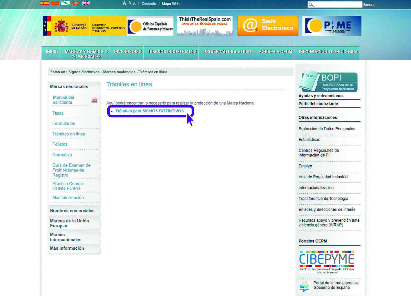 Paso 4 OEPM Registro de Marca Tramites 2 Tutorial